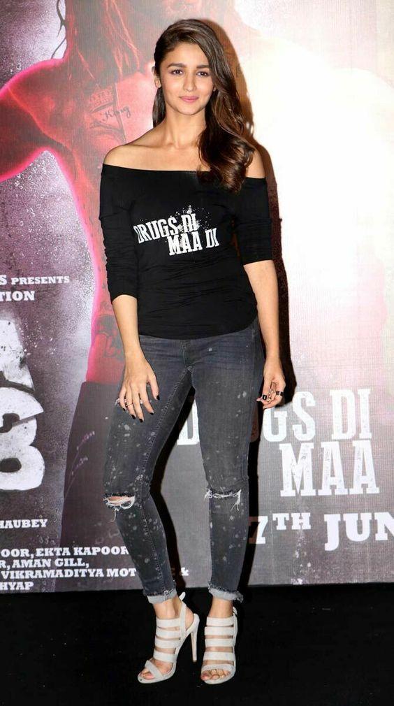 Alia Bhatt Denim Jeans Dress Available Online