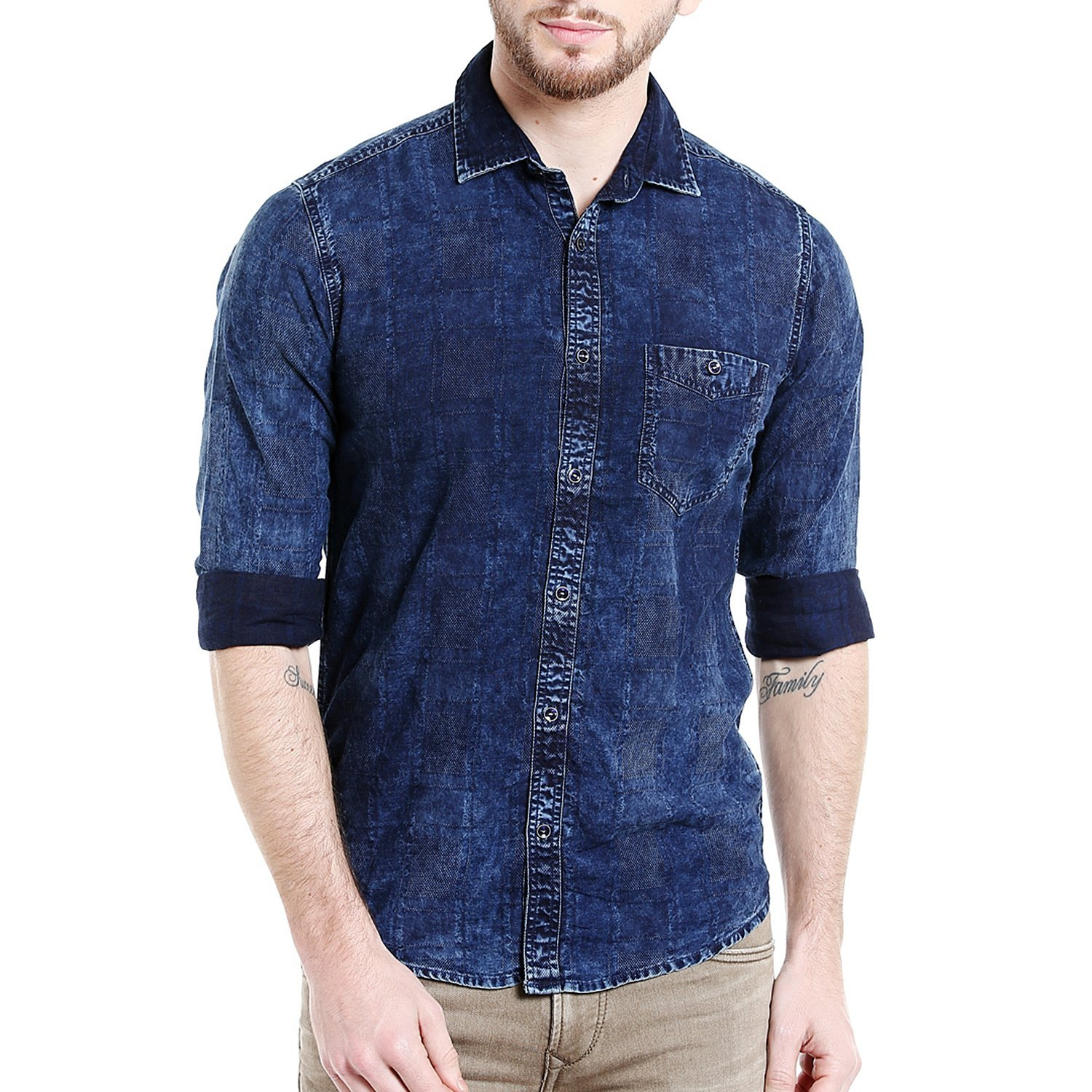 Buy Online Denim Style Cotton Shirt Amazon