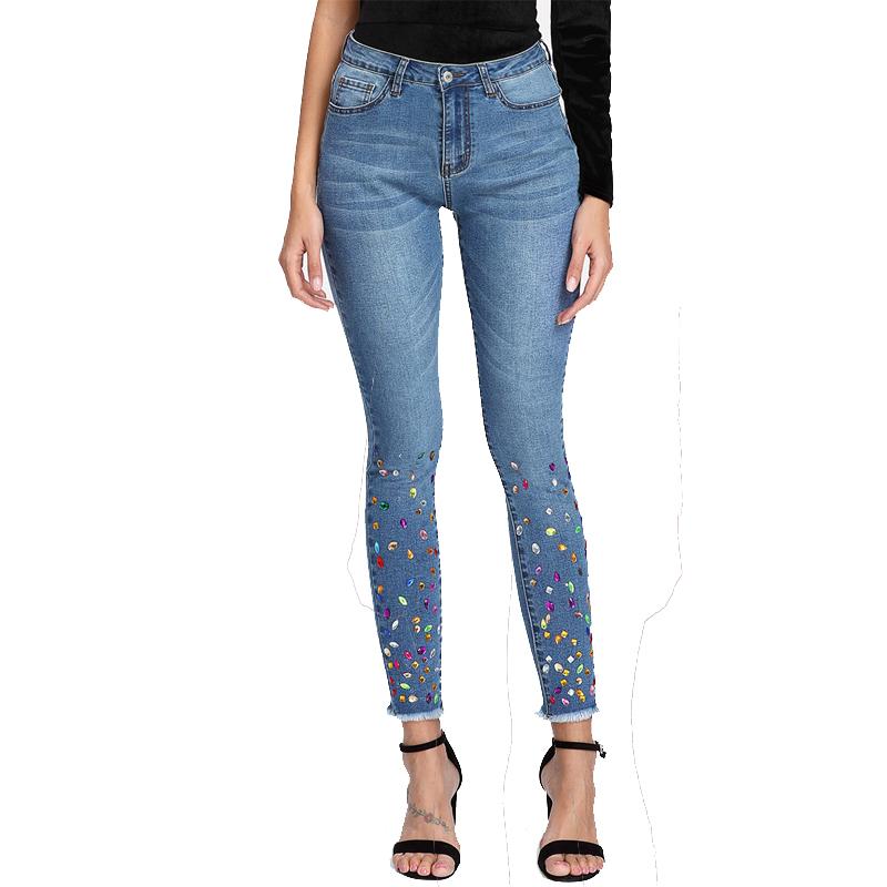 Diamond denim jeans