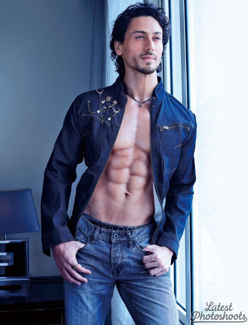 tiger shroff denim shirt outfit