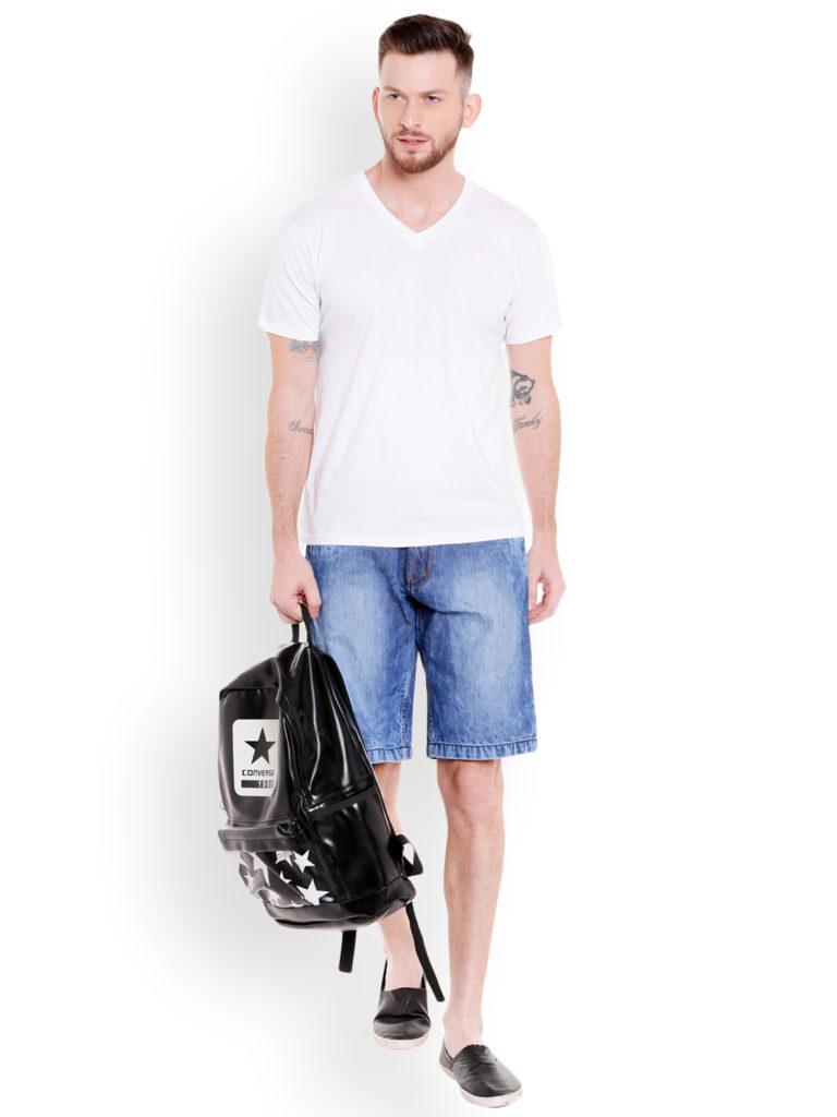 blue denim traveler shorts