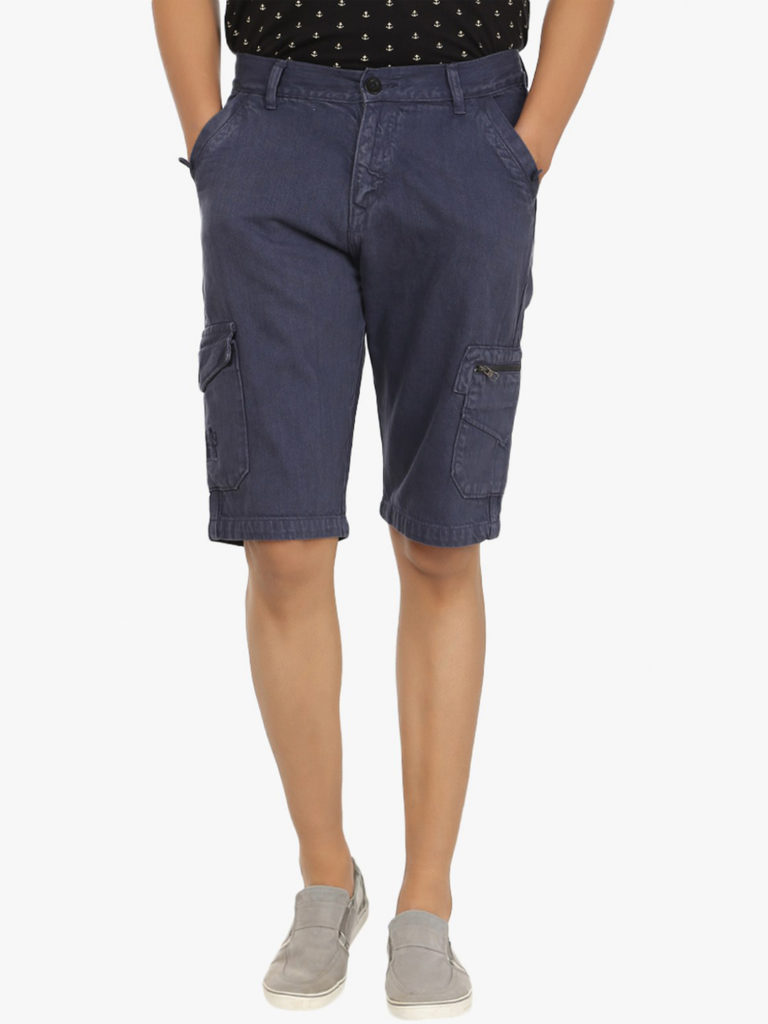 cotton denim traveler shorts for men online