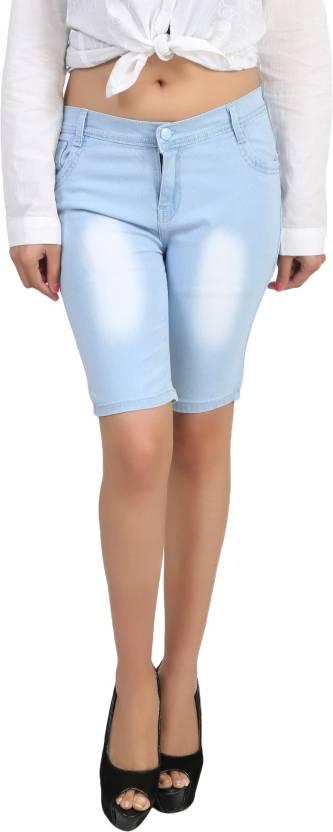 light blue denim shorts girl