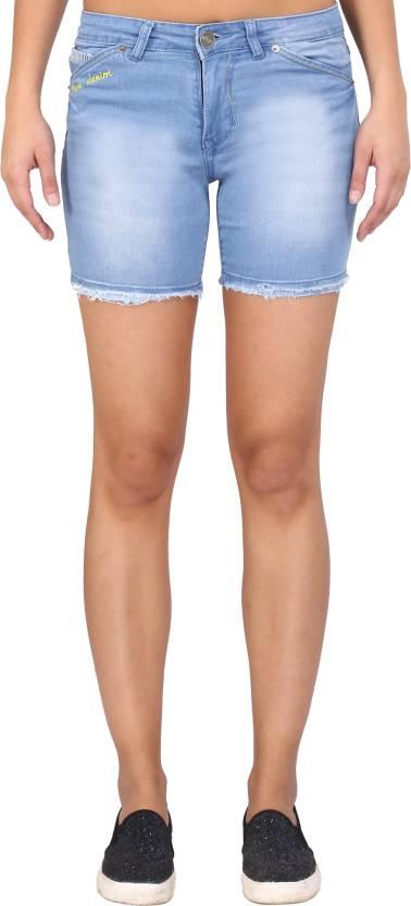 Blue Denim shorts for women