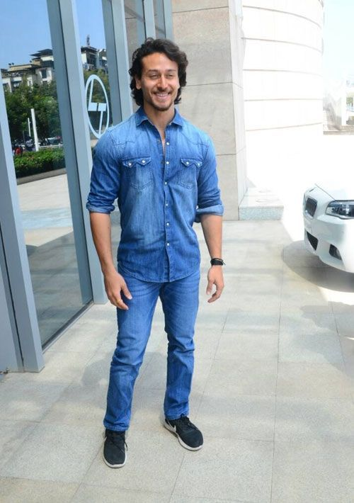 Tiger shroff denim shirts wears
